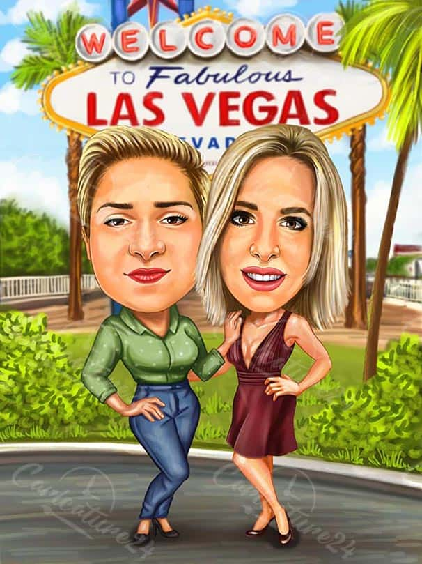 Карикатура Las Vegas