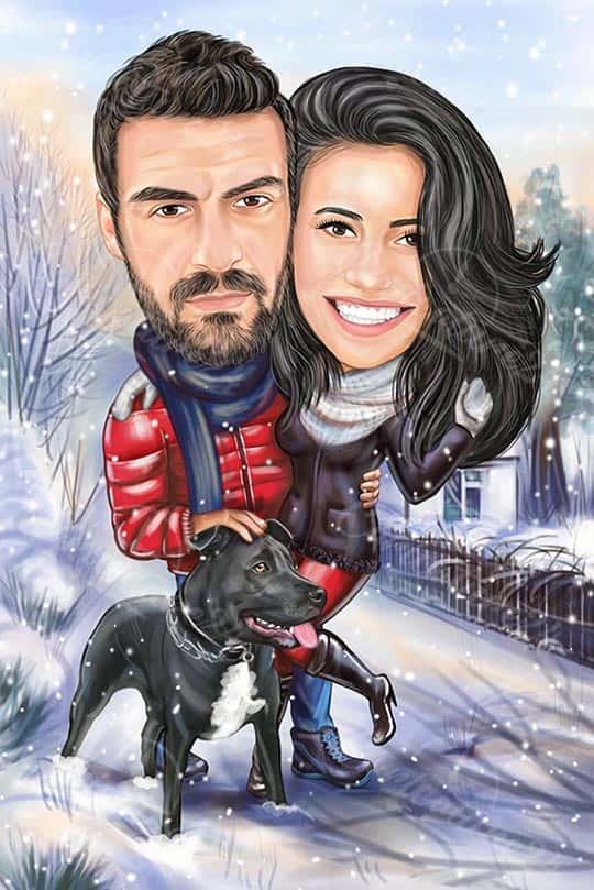 Карикатура оригинален подарък за Коледа