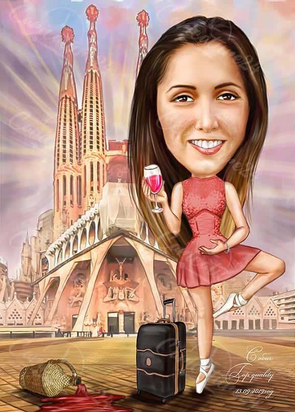 Карикатура за балерина
