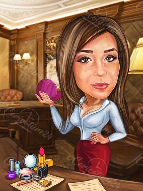 Карикатура за Бизнес дама
