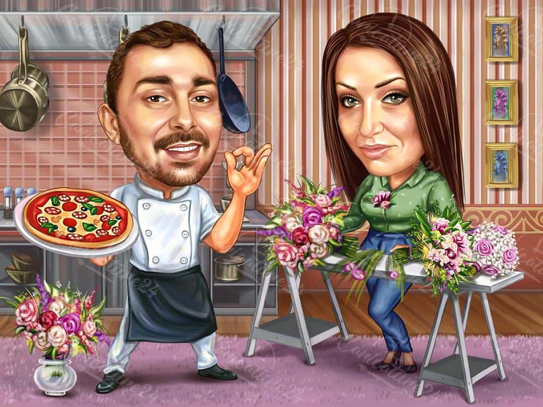 Карикатура за главен готвач