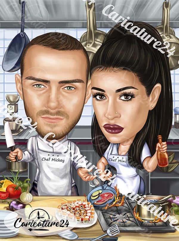 Карикатура за готвачи