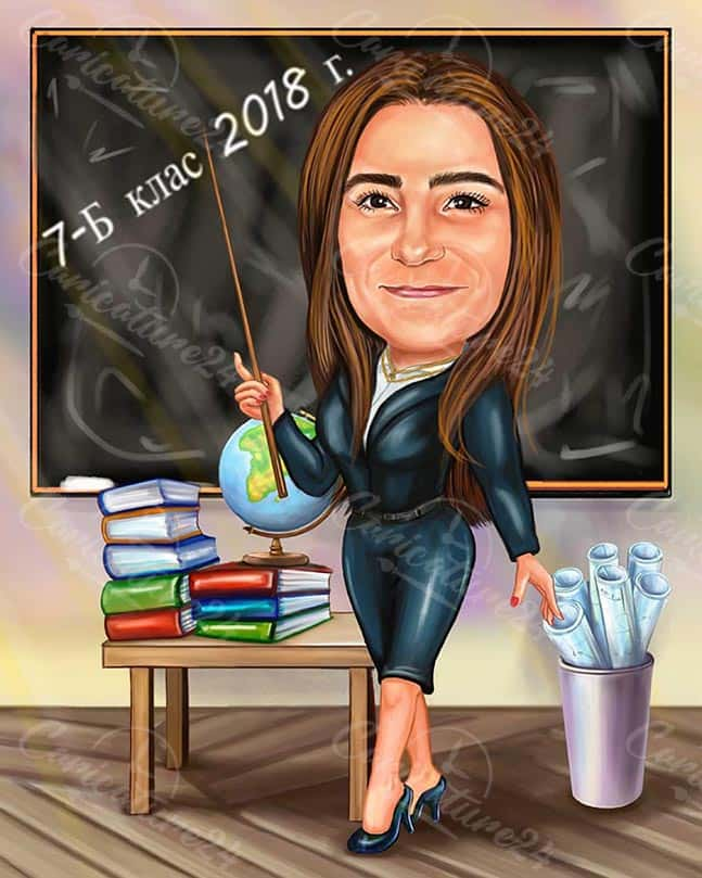 Карикатура за класната