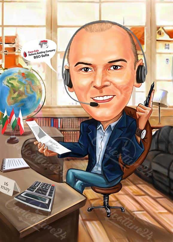 Карикатура за колега