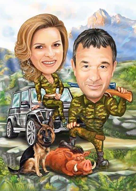 Карикатура за ловци