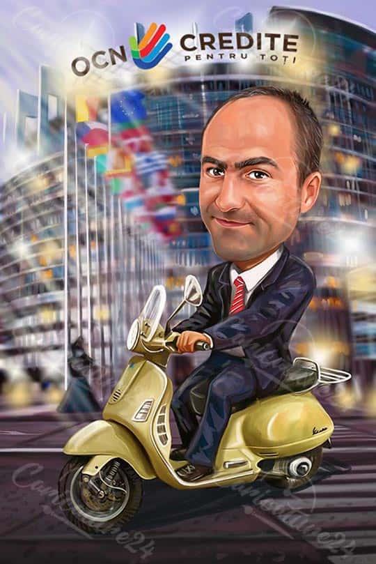 Карикатура за мъж бизнесмен