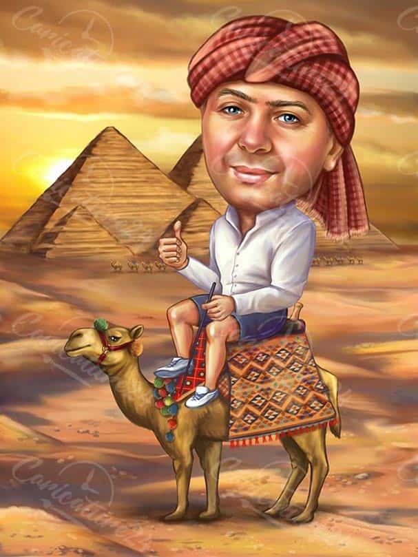 Карикатура за мъж в Египет