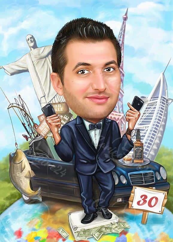 Карикатура за шеф рибар на 30