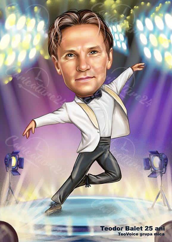 Карикатура за танцьор