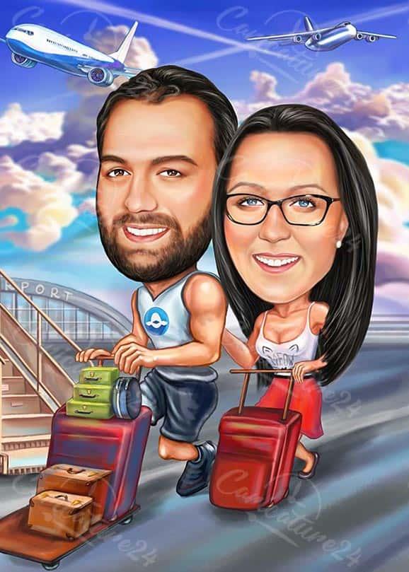 Карикатура за влюбени пътешественици