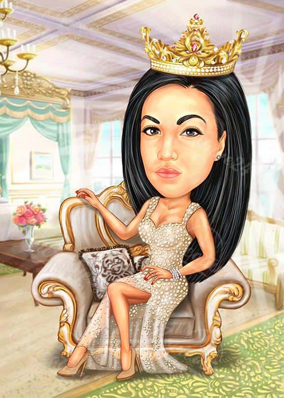 Карикатура за жена кралица