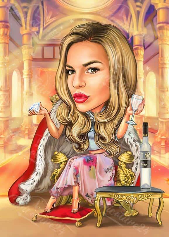 Карикатура за жена принцеса