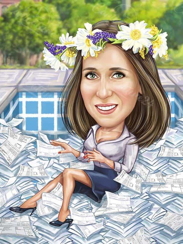 Карикатура за жена счетоводител
