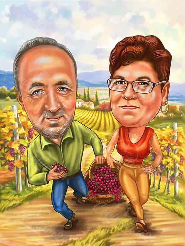 Карикатура земеделци