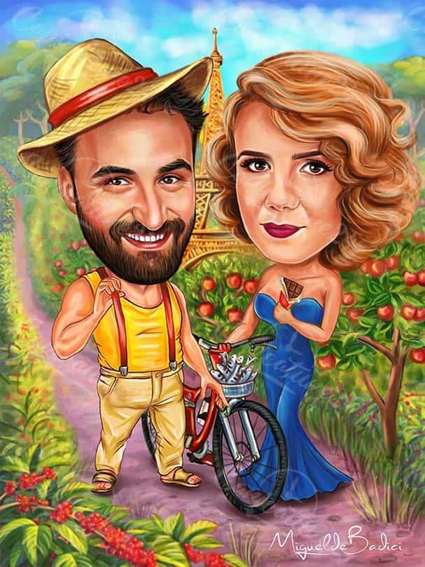 Карикатура земеделие в Париж