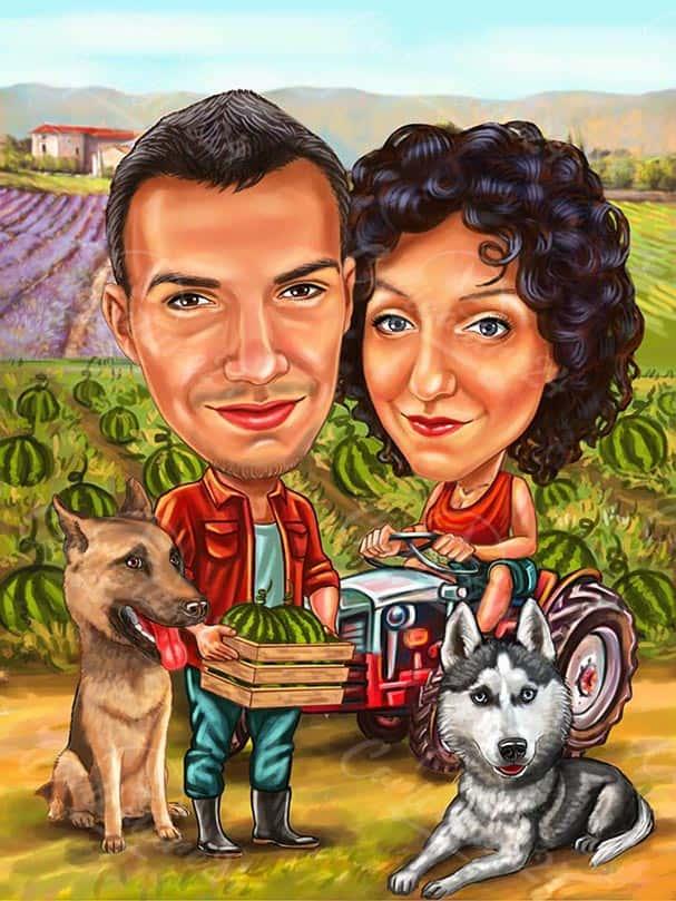 Карикатура земеделие