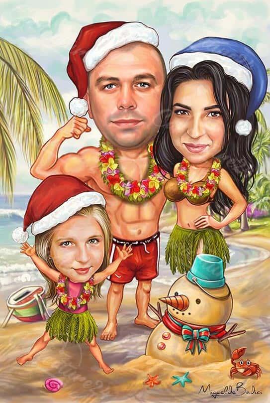Лятна Коледна карикатура