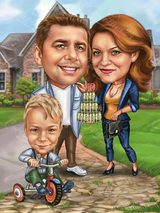 Семейна карикатура 40 години