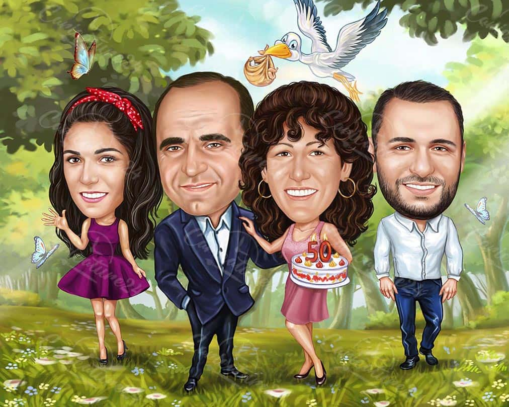 Семейна карикатура 50 години