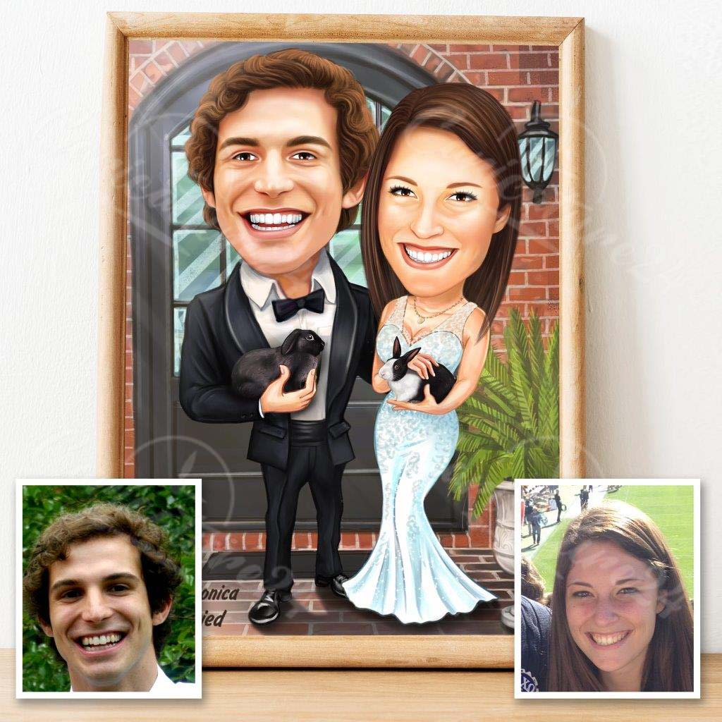 Сватбена карикатура за нов дом