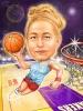Баскетболна карикатура за жена