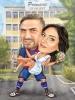 Футболна сватбена карикатура