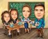 Групова карикатура в класна стая