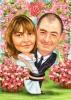 Карикатура 20 годишнина от сватбата