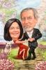 Карикатура годишнина от сватбата с куче