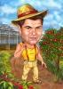 Карикатура млад земеделец
