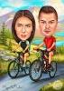 Карикатура на планина с колело
