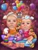 Карикатура за бебета близнаци