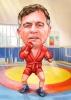 Карикатура за борец