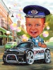 Карикатура за дете полицай