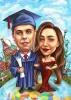 Карикатура за дипломиране на момче