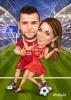 Карикатура за двойка на стадион