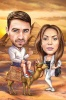 Карикатура за двойка в Египет