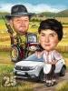 Карикатура за фермер и ловец
