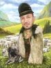 Карикатура за фермери с овце