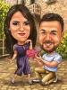 Карикатура за годеж със сърце