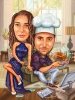 Карикатура за готвач-геймър