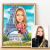 Карикатура за момиче в Париж