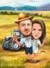Карикатура за мъж фермер и жена лекар