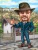 Карикатура за мъж фермер