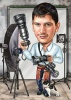 Карикатура за мъж фотограф