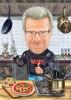 Карикатура за мъж готвач