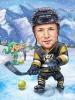 Карикатура за мъж хокеист