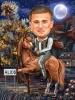 Карикатура за мъж на кон