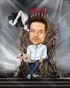 Карикатура за мъж на трон