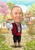 Карикатура за мъж с народни носии